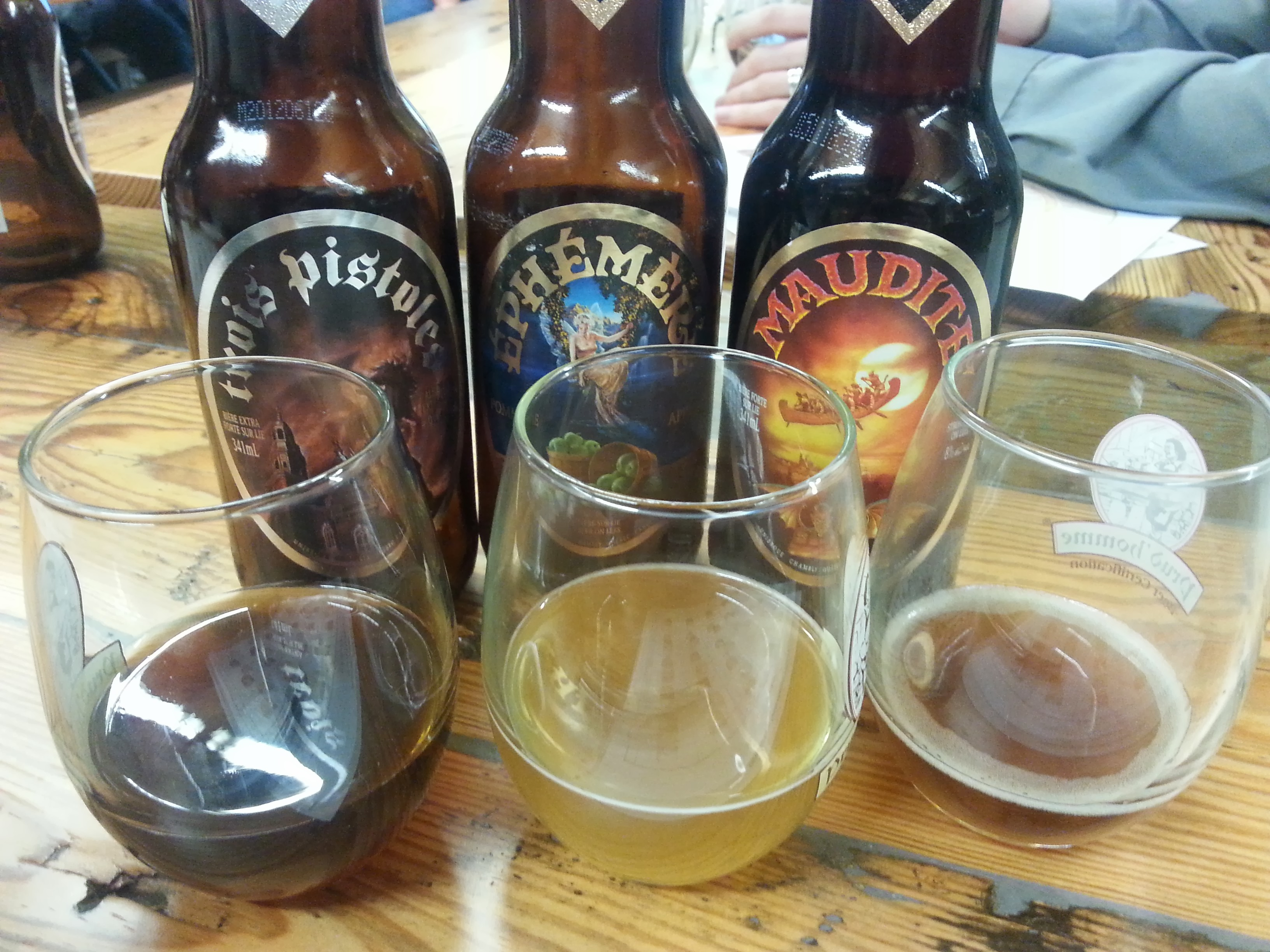 Aged Unibroue beers