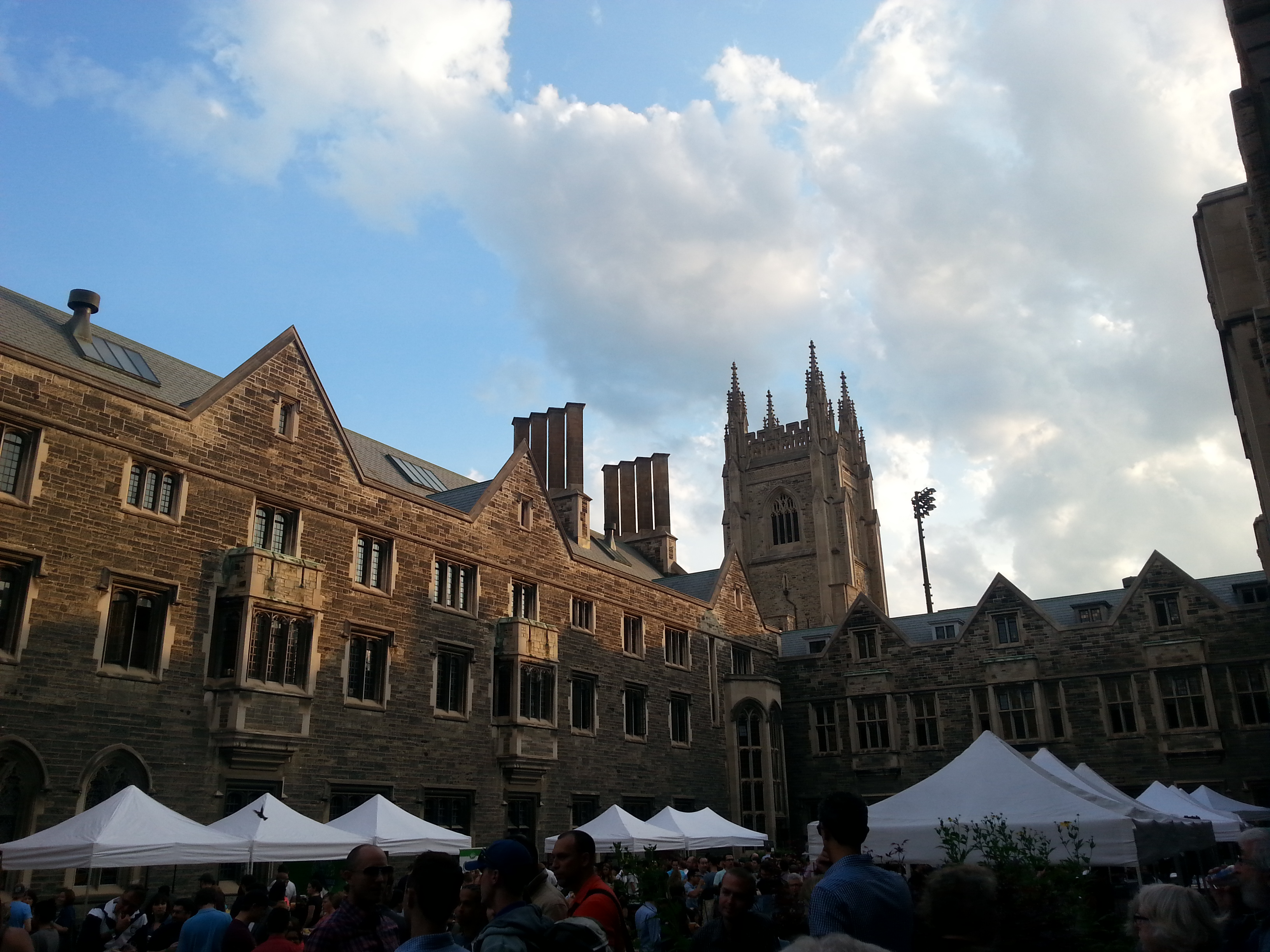 Inside the Hart House quad.